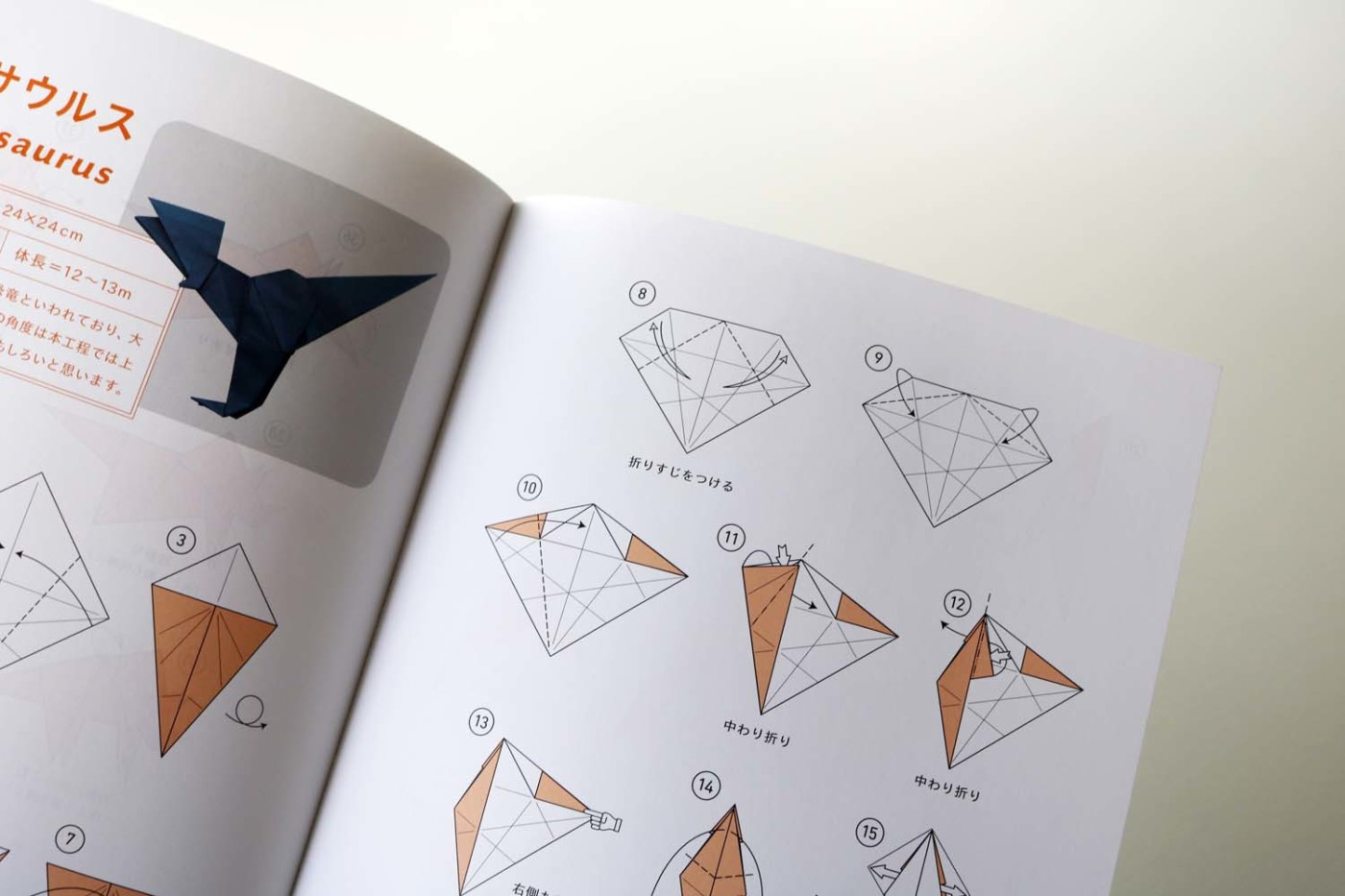 Origami Dinosaurs, a list of online, origami-dinosaur diagrams ... | 933x1400